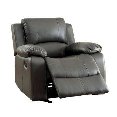 Tori Gray Bonded Leather Match Recliner Chair