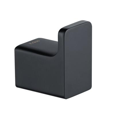 Stelios Bathroom Robe and Towel Hook in Matte Black