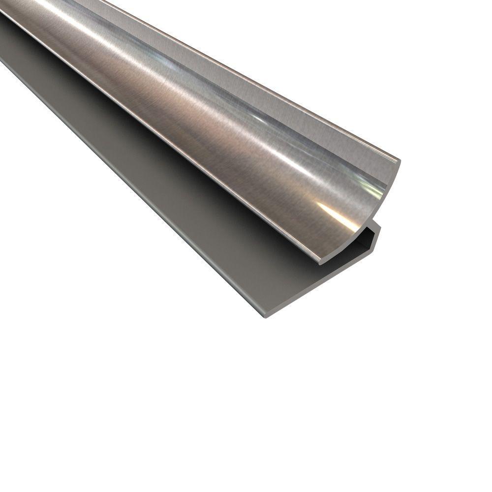 Fasade 4 ft. Large Profile Inside Corner Trim in Brushed Aluminum