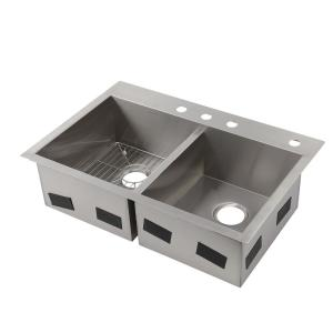 kohler stainless steel kitchen sinks undermount kohler vault drop in undermount stainless steel 33 in 4 9649