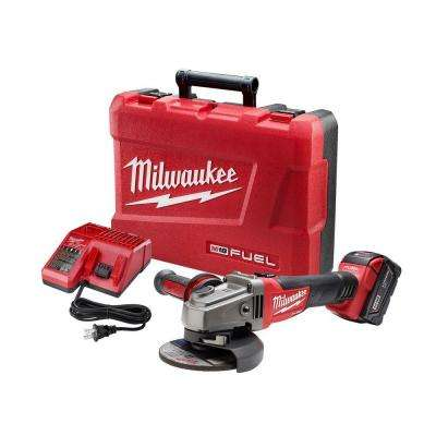 M18 FUEL 18-Volt Lithium-Ion Brushless Cordless 4-1/2 in. /5 in. Grinder W/ Slide Switch Kit W/ (1) 5.0Ah Batteries