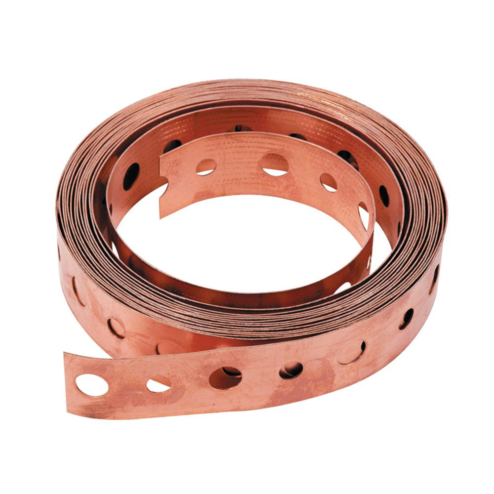 3/4 in. x 10 ft. 24-Gauge Copper Hanger Strap