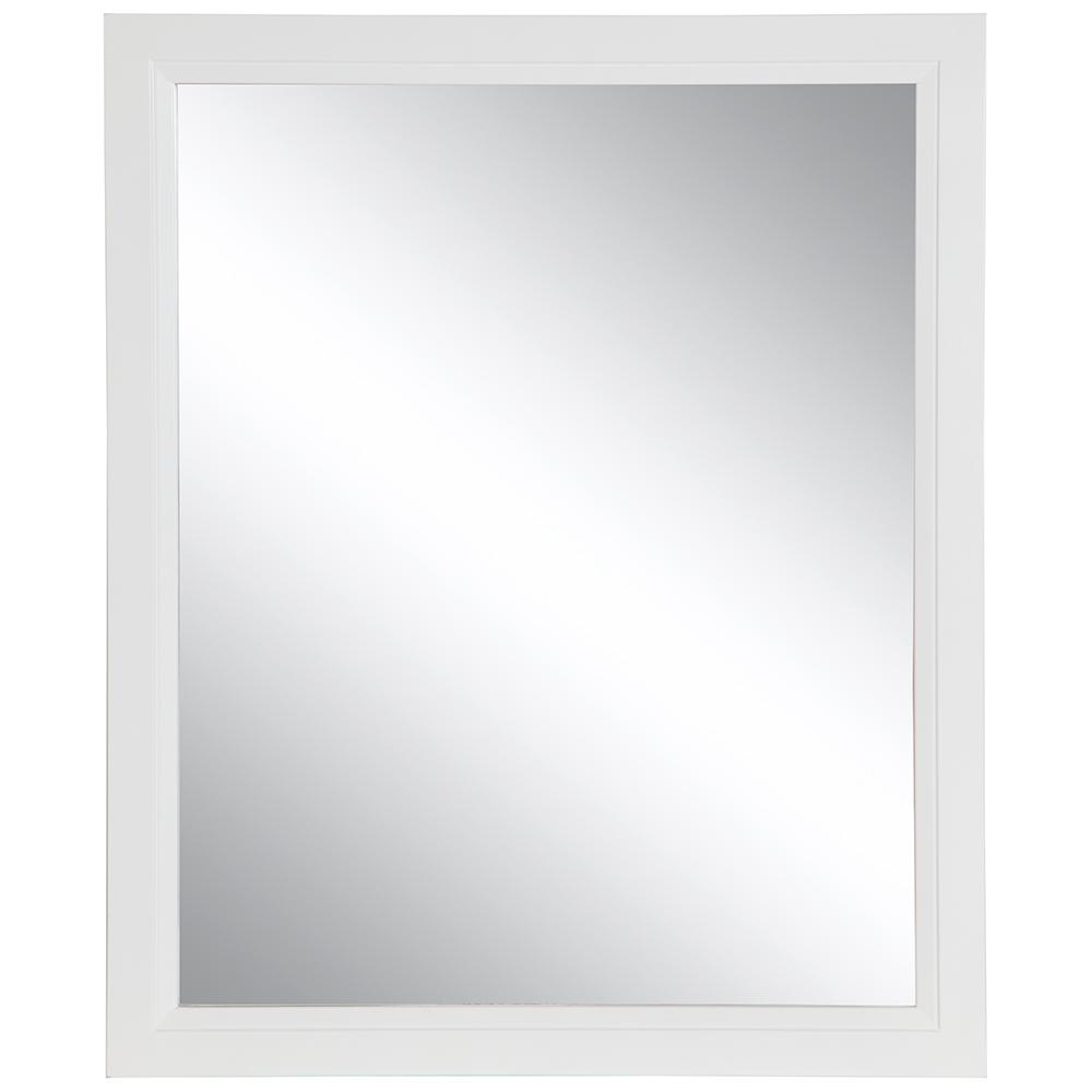 Home Decorators Collection Stratfield 26 in. W x 31 in. H Framed Wall Mirror in White