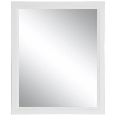 Stratfield 26 in. W x 31 in. H Framed Wall Mirror in White