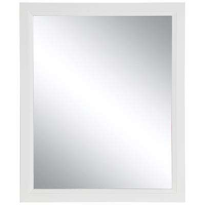 Stratfield 25.67 in. W x 31.38 in. H Framed Wall Mirror in White