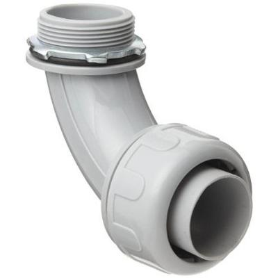 (50-Pack)1-1/2 in. Dia Liquid Tight Non Metallic Electrical PVC Conduit 90-Degree Angle Fitting Connector
