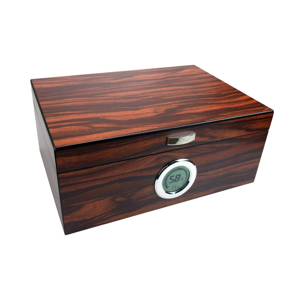 Brawley Macassar Finish Cigar Humidor
