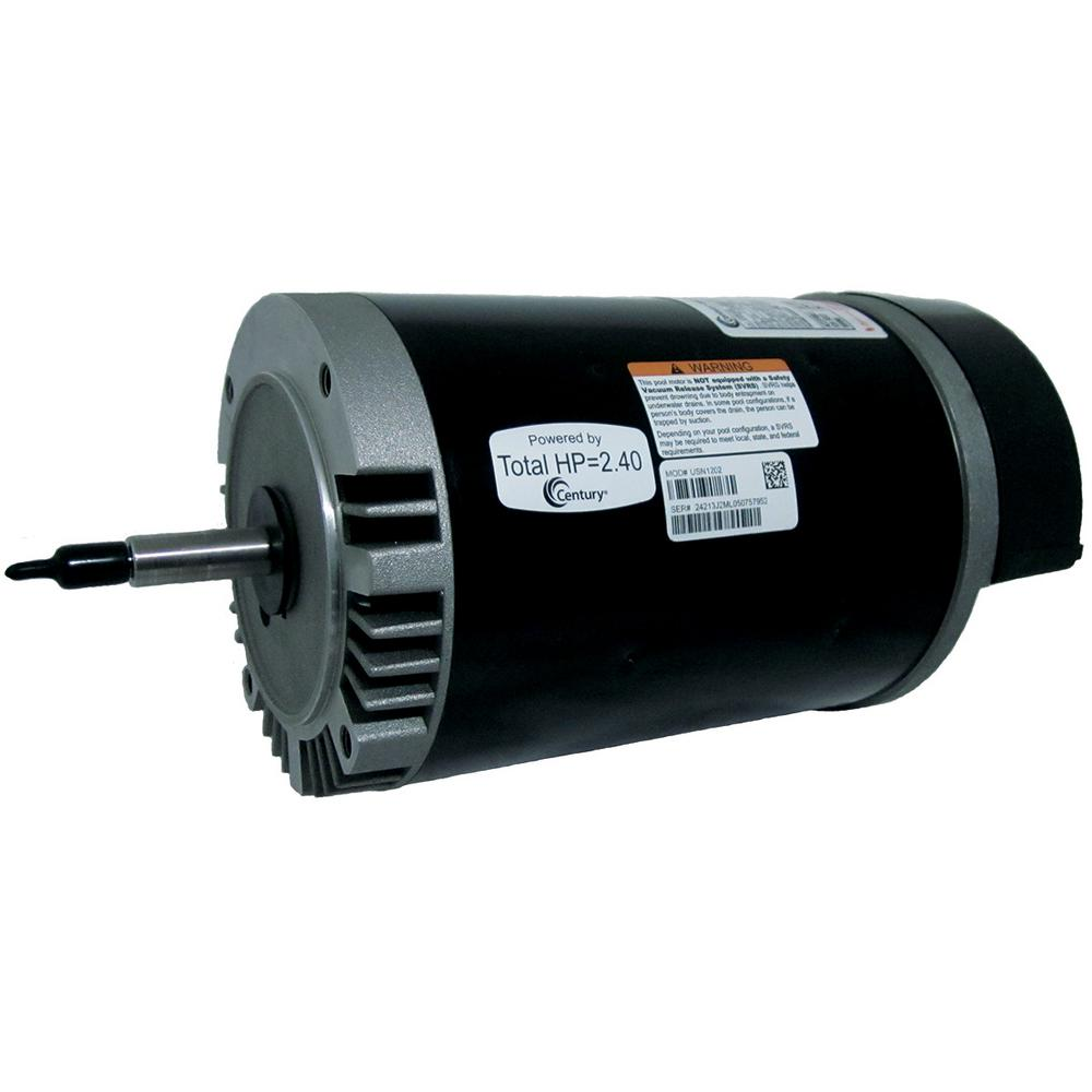 2 HP Pool Hardware Single Speed Replacement Motor