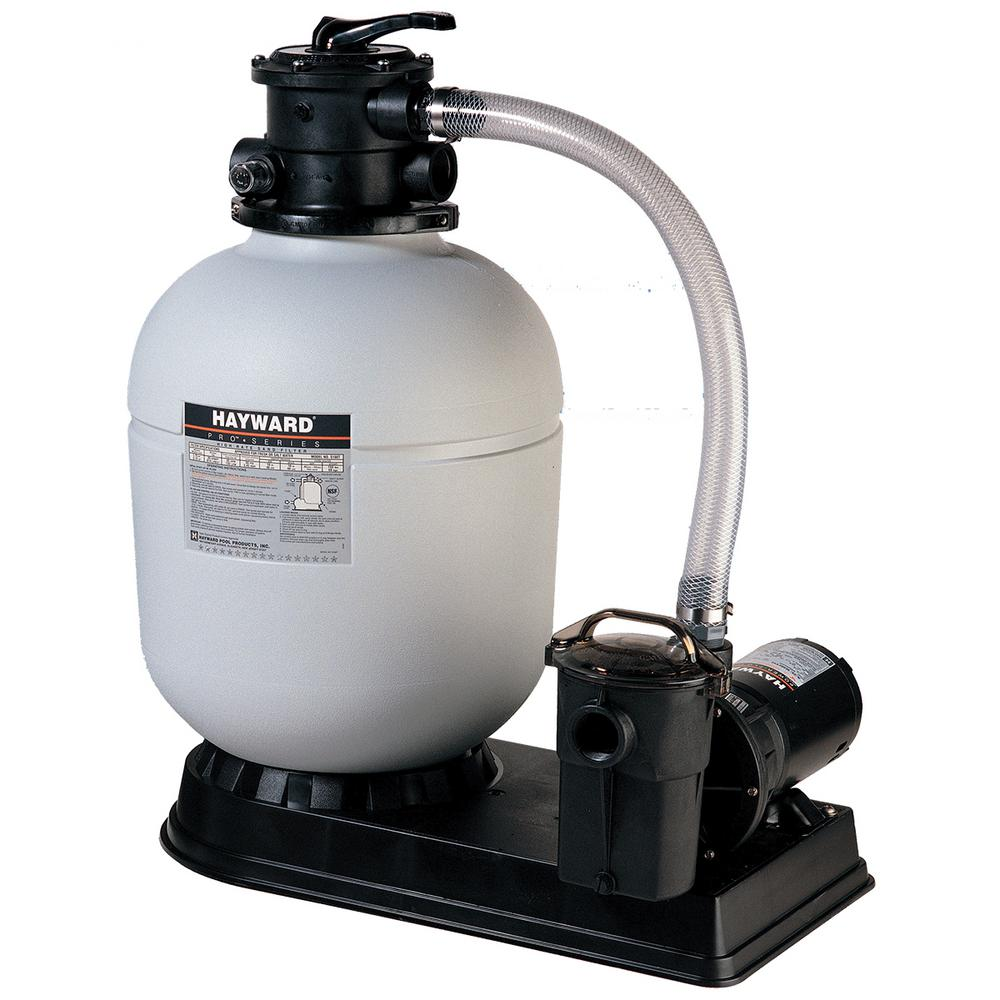 Hayward 16 in. Polymeric Sand Filter System with 1 HP Pow...