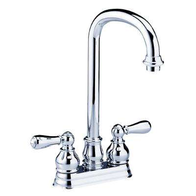 Hampton 2-Handle Bar Faucet with High-Arc in Polished Chrome