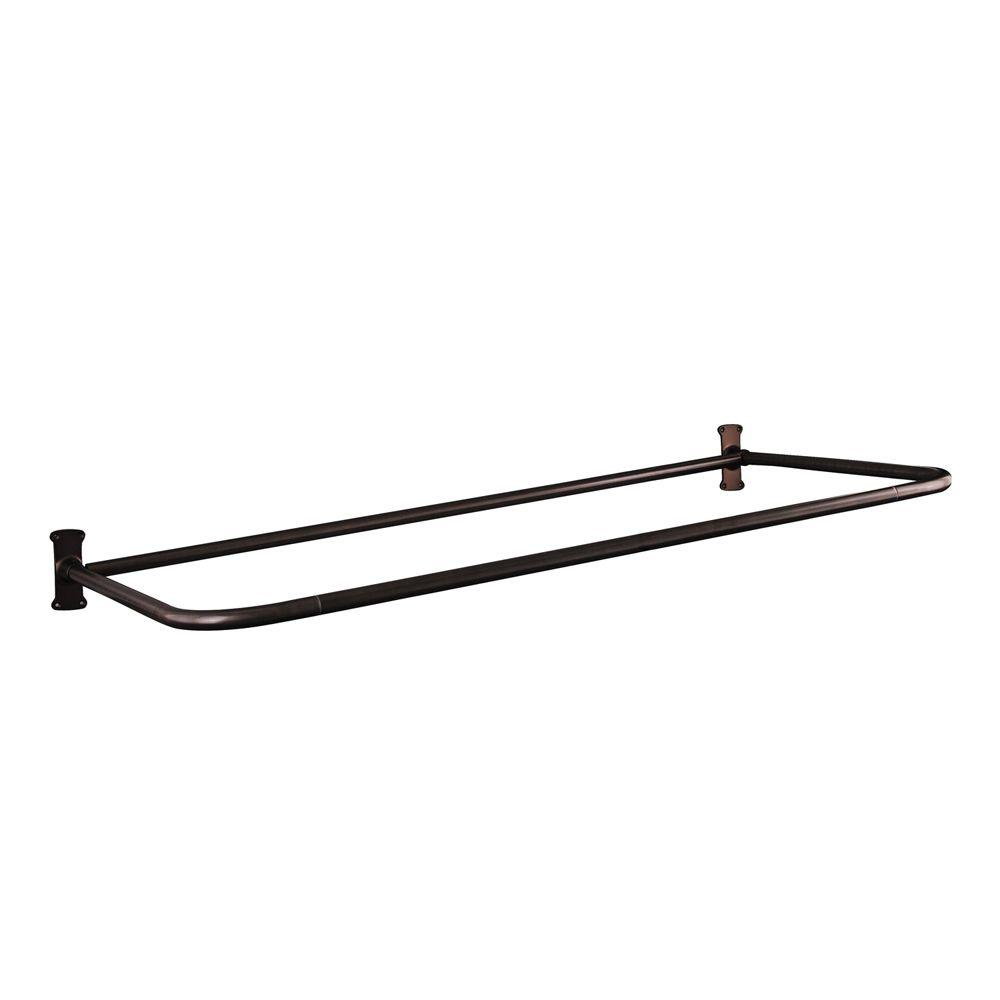 Barclay Products 60 in. D Shower Rod in Oil Rubbed Bronze