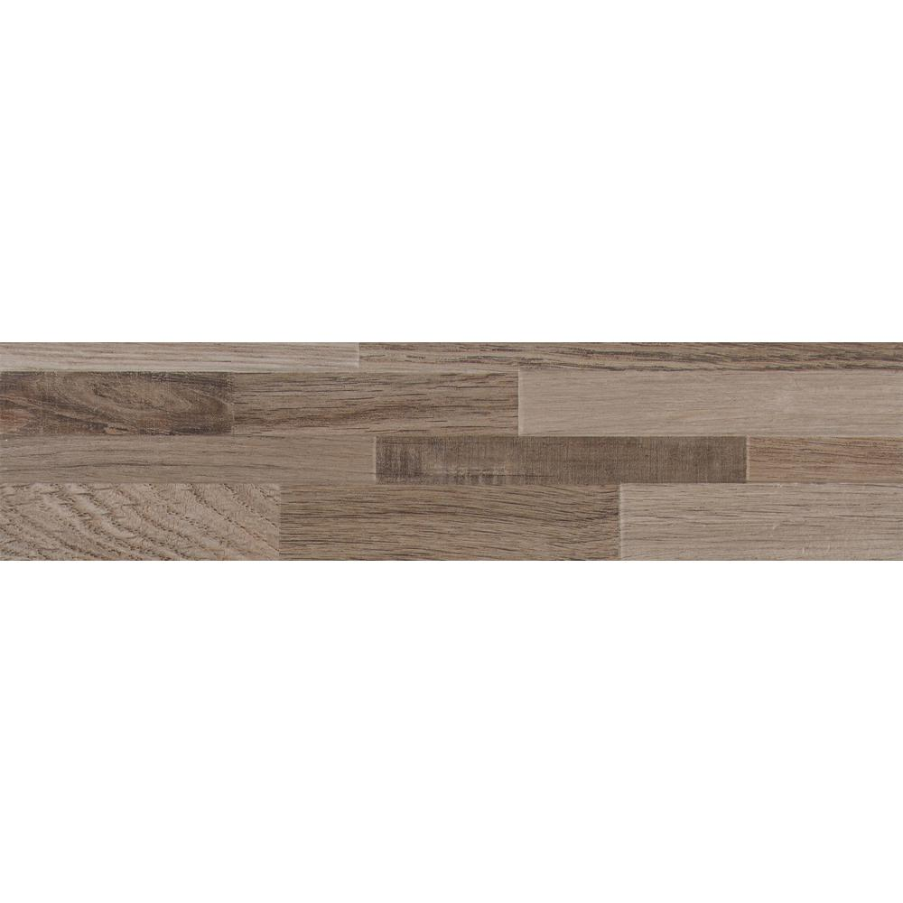 Rain Forest 6 in. x 24 in. Taupe Ledger Panel Glazed