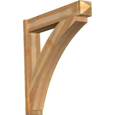 8 in. x 44 in. x 44 in. Western Red Cedar Thorton Arts and Crafts Rough Sawn Outlooker