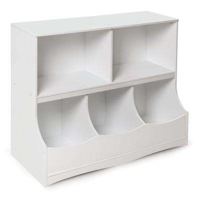 Multi-Bin 37 in. x 32 in. White 5-Cube Organizer