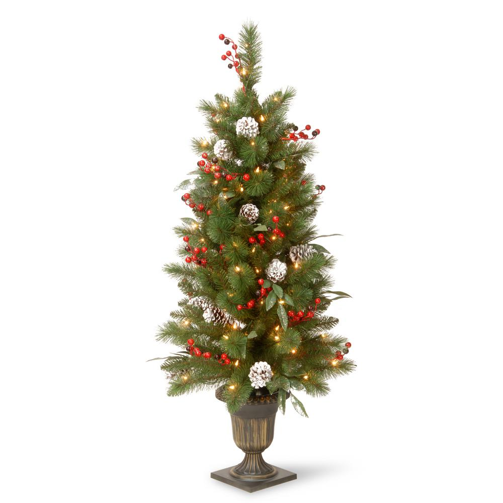 Flocked Frosted Artificial Christmas Trees Christmas