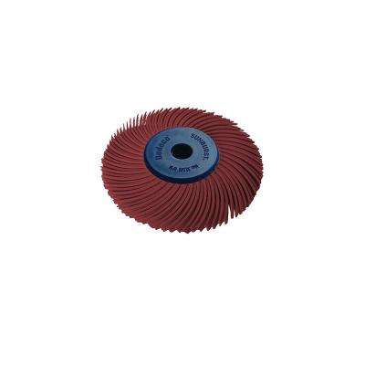 Sunburst 2 in. 3-PLY Radial Discs 1/4 in. Arbor Thermoplastic Cleaning and Polishing Tool, Standard 220-Grit (1-Pack)