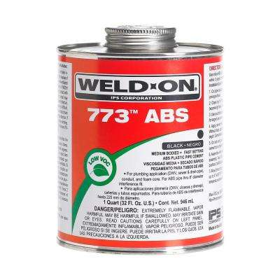 32 oz. ABS 773 Low VOC Cement in Black