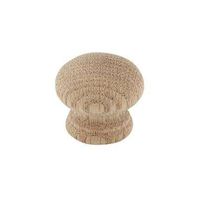 Eclectic 1-3/8 in. (35 mm) Oak, Natural Finish Round Cabinet Knob