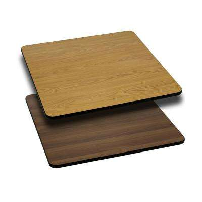 24 in. Square Table Top with Natural or Walnut Reversible Laminate Top