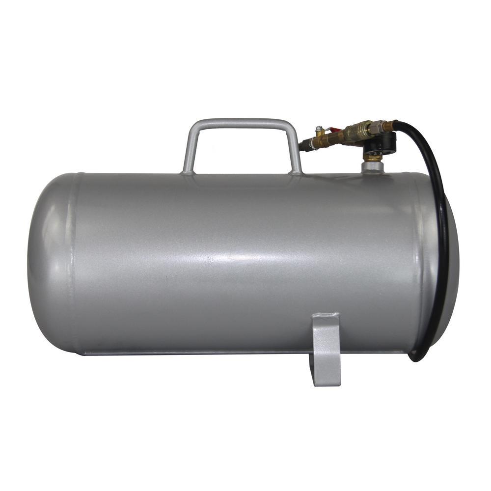 Silver California Air Tools CAT-AUX05A 5 Gallon Lightweight Portable Aluminum Air Tank