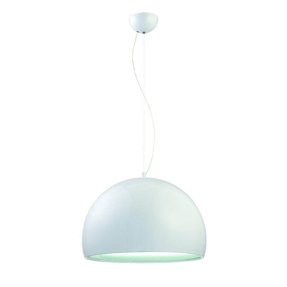 Eurofase Bollo Collection 1-Light Large White Pendant-DISCONTINUED