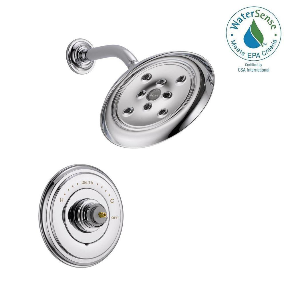 Delta Cidy 14 Series 1 Handle Shower Faucet Trim Kit Only In Chrome Valve