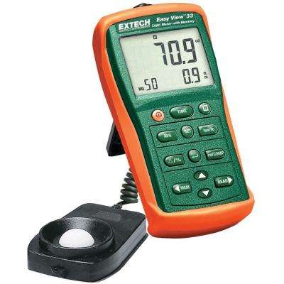 Easy View Light Meter with Memory