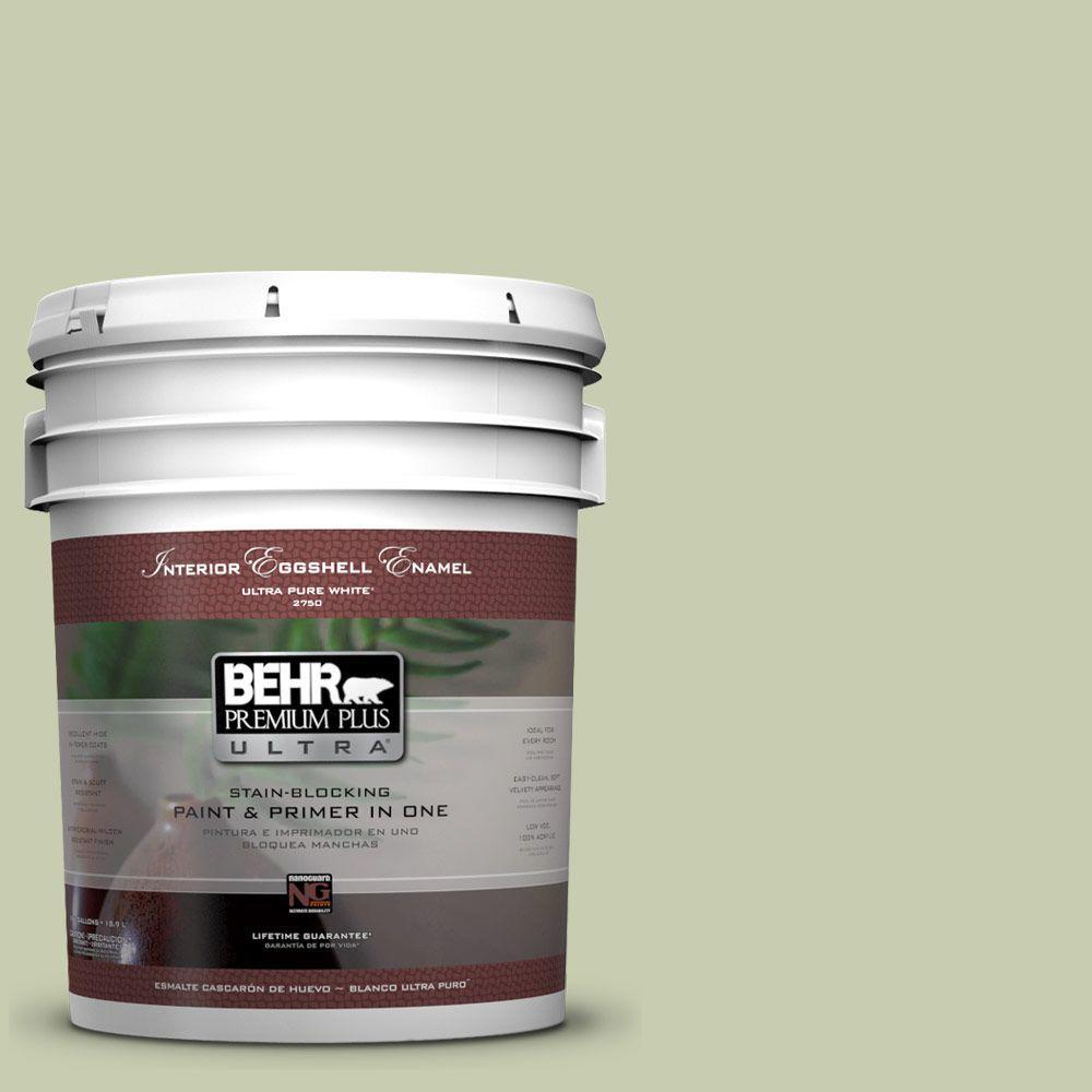 BEHR Premium Plus Ultra 5-gal. #ECC-12-2 Meadow Glen Eggshell Enamel Interior Paint