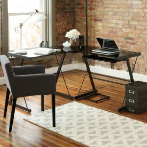 Walker Edison Furniture Company Home Office Black Desk by Walker Edison Furniture Company