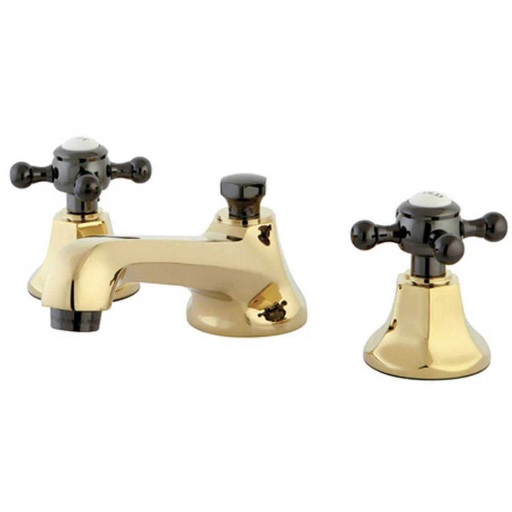 Kingston Brass 8 In Widespread 2 Handle High Arc Bridge Bathroom Faucet In Polished Brass