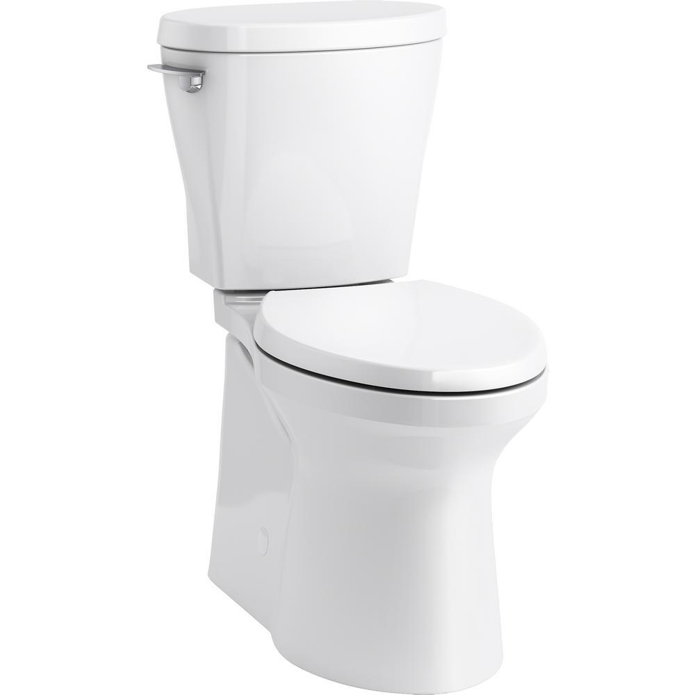 Kohler Betello 2 Piece 1 28 Gpf Single Flush Elongated Toilet In White Seat Not Included K 20198 0 The Home Depot
