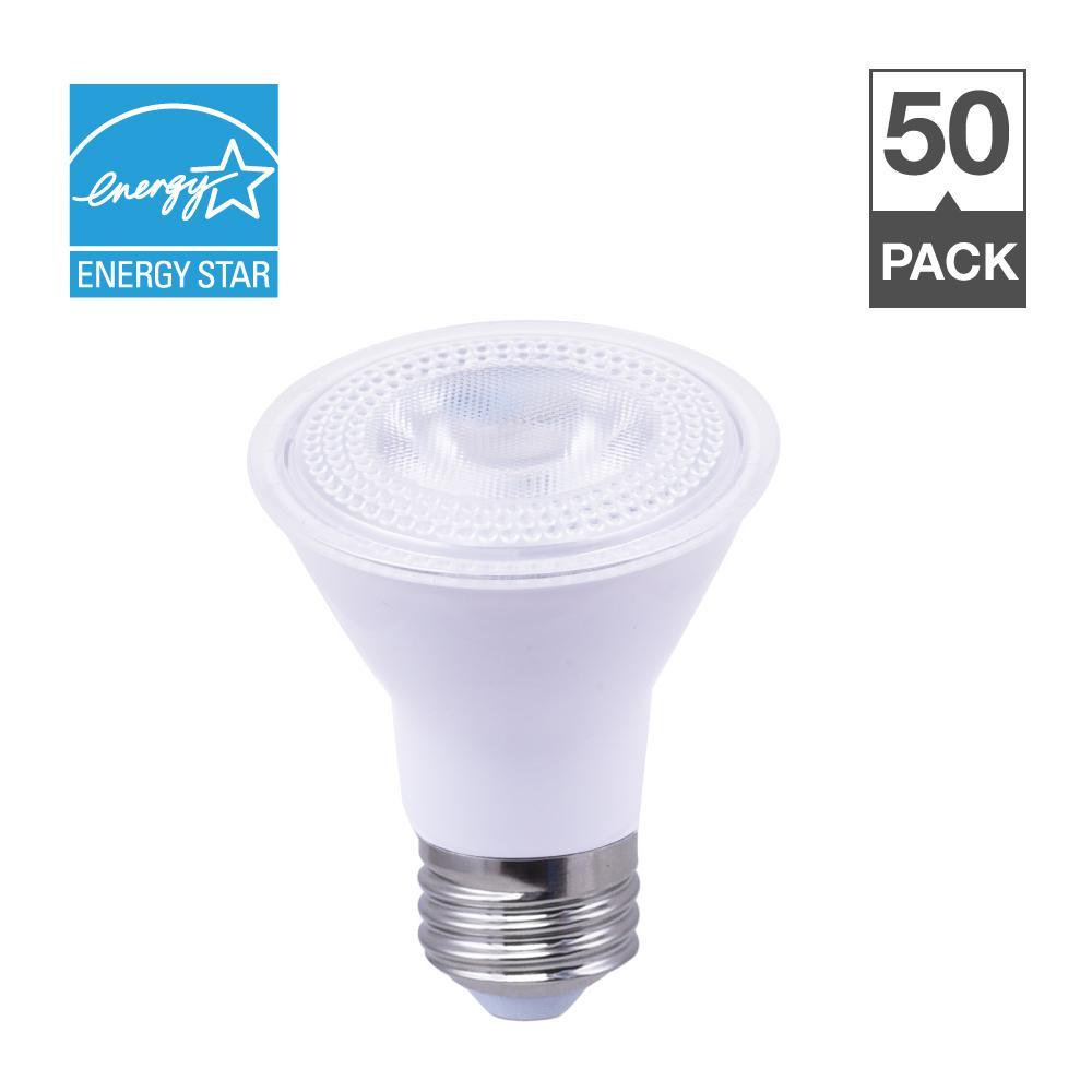 50-Watt Equivalent 2700K PAR20 Dimmable LED Light Bulb Soft White (50-Pack)