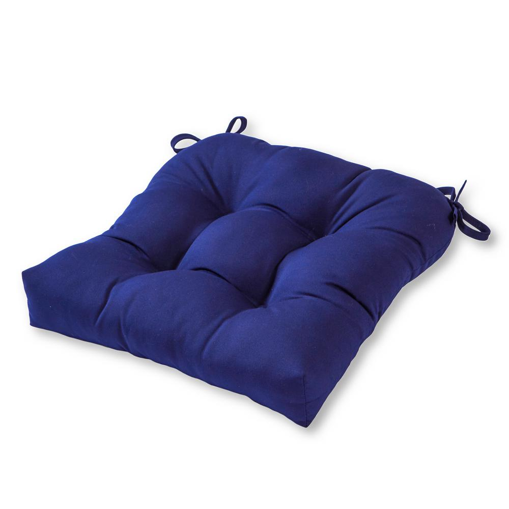 Groovy Greendale Home Fashions Solid Navy Sunbrella Fabric Square Tufted Outdoor Seat Cushion Ibusinesslaw Wood Chair Design Ideas Ibusinesslaworg