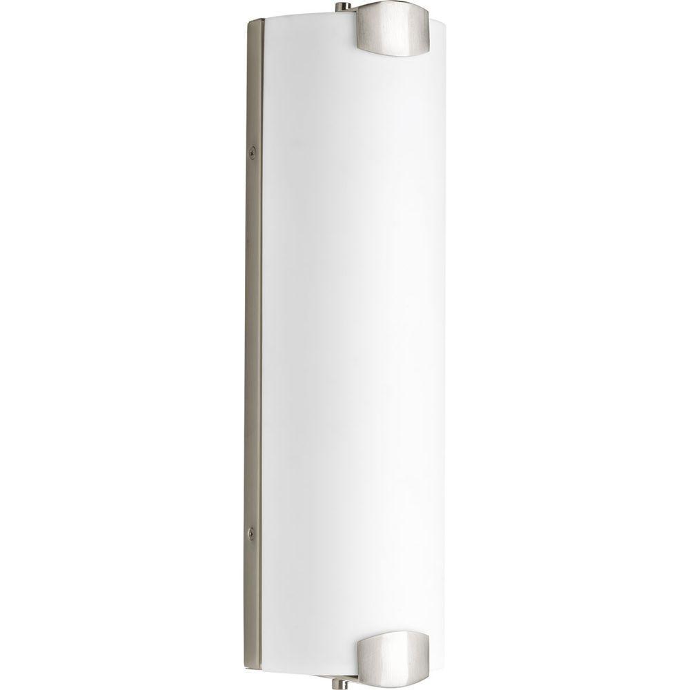 Balance Collection 3-Light Brushed Nickel LED Bath Light