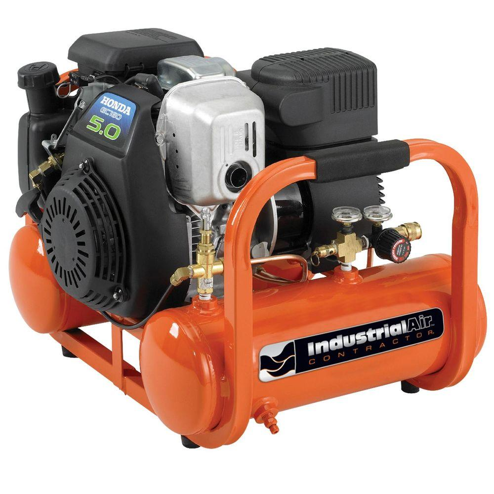 Portable Pontoon Air Compressor with 5 HP Honda Gas Engine