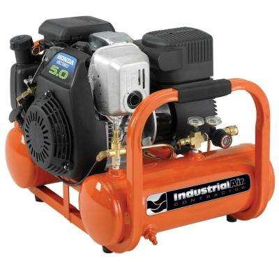 4 Gal. Portable Pontoon Air Compressor with 5 HP Honda Gas Engine