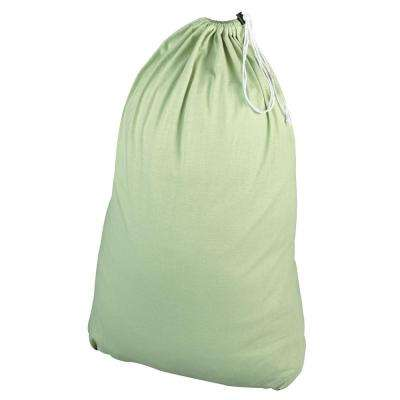 Sage Green Cotton Jersey Laundry Bag and Sorter
