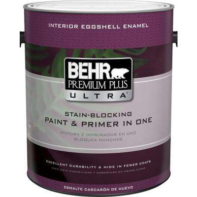 1 gal. Ultra Pure White Eggshell Enamel Interior Paint and Primer in One