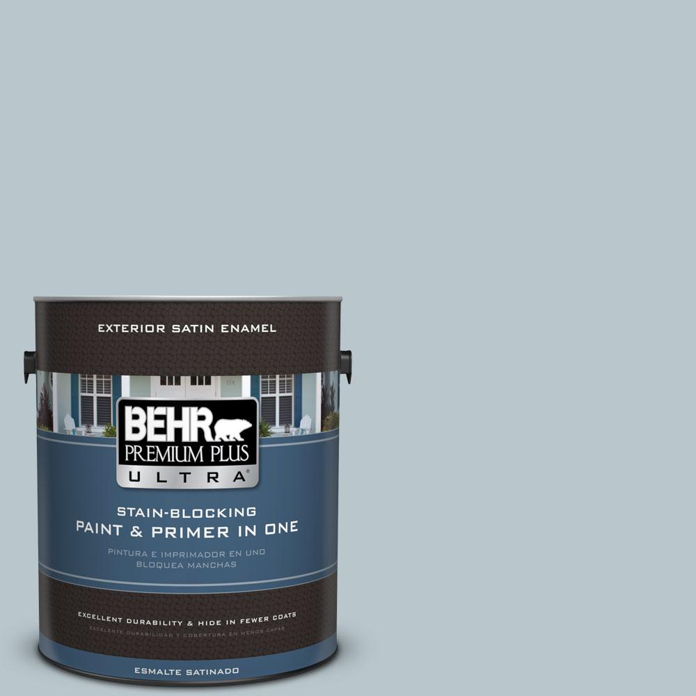 BEHR Premium Plus Ultra 1-gal. #N480-2 Flowing Breeze Satin Enamel Exterior Paint