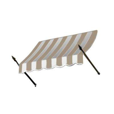 50 ft. New Orleans Awning (56 in. H x 32 in. D) in Tan / White Stripe