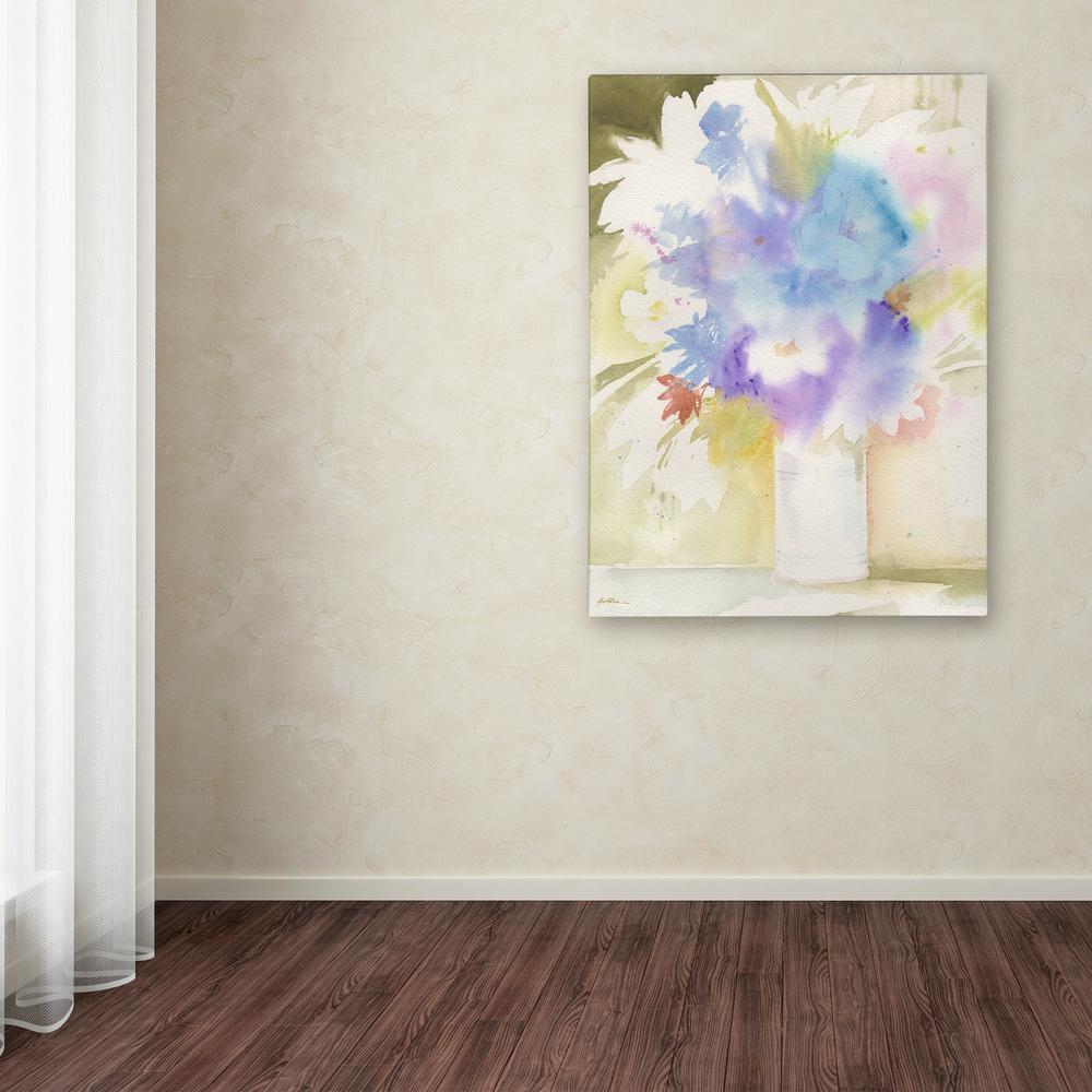 """24 in. x 18 in. """"Bouquet Blues"""" by Sheila Golden Printed"""
