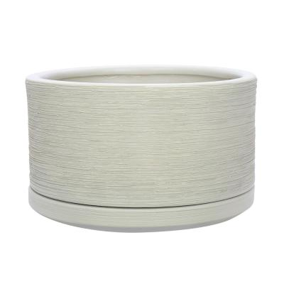 Liesl 5.9 in. Dia Beige Ceramic Planter