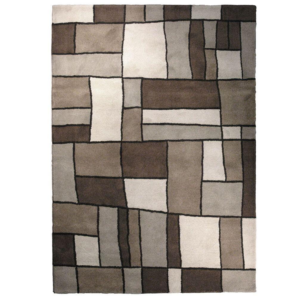 iCustomRug Picasso Grey 6 ft. x 9 ft. Area Rug