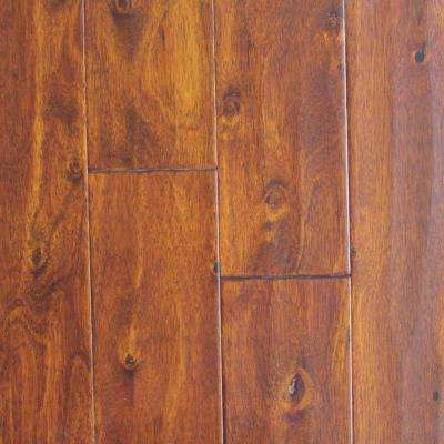 HDC Eucalyptus Amber Hand Scraped 3/8 in. x 5 in. Wide x Varying Length HDF Click Hardwood Flooring (25.83 sq. ft./case)