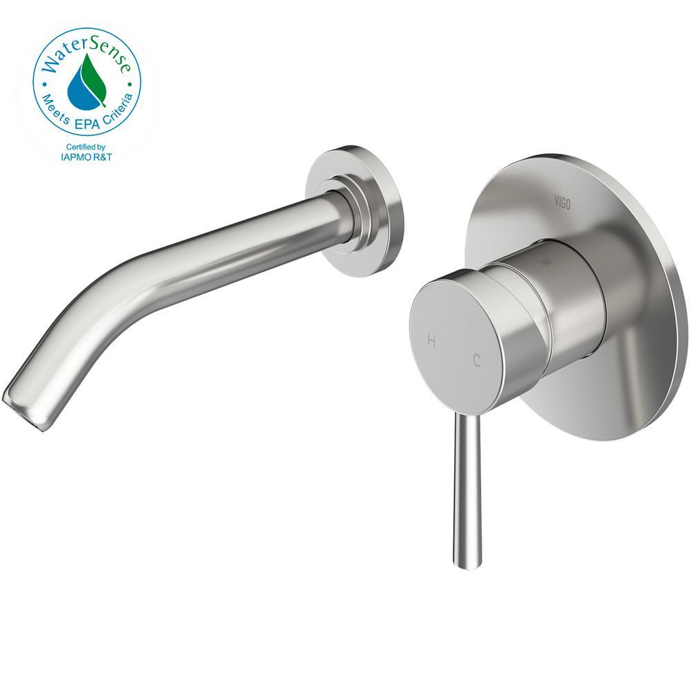 Vigo Single Hole Single Handle Wall Mount Vessel Bathroom Faucet In