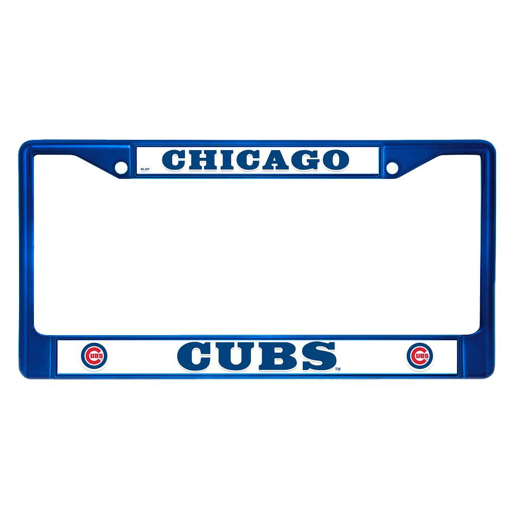Chicago Cubs License Plate Frame-FCC5303BL - The Home Depot