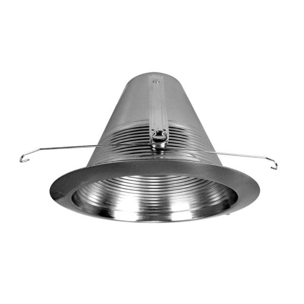 NICOR 6 in. Nickel Recessed Airtight Cone Baffle Trim