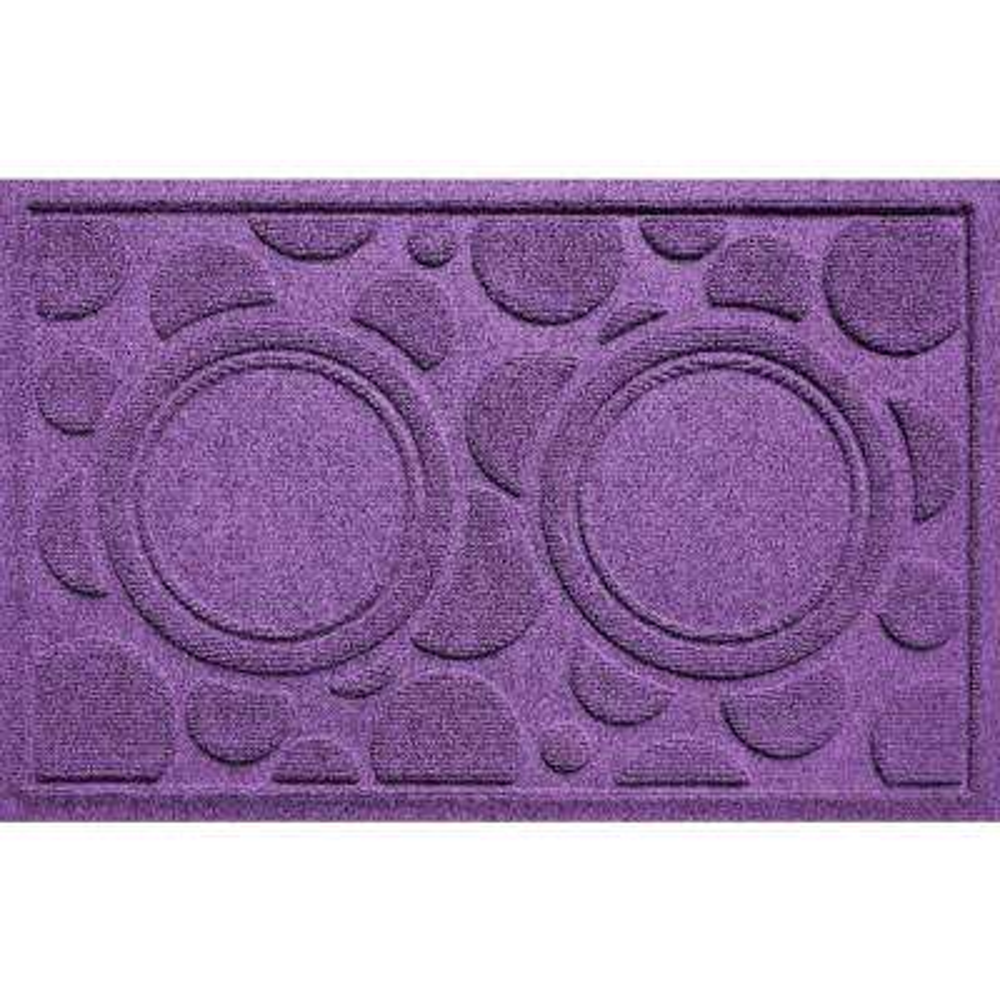 Purple 18 in. x 27 in. Dog Bowl Dots Polypropylene Pet Mat