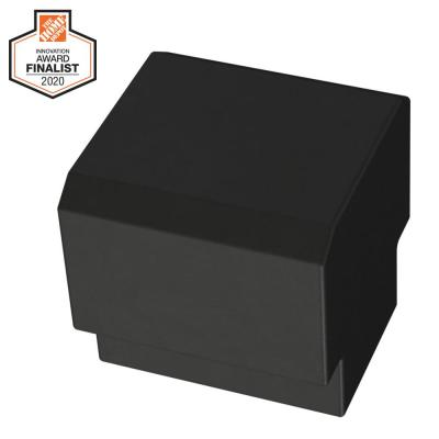 Tapered Edge 1 in. (25mm) Matte Black Cabinet Knob