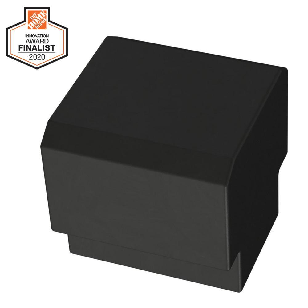 Tapered Edge 1 in. (25mm) Matte Black Cabinet Knob